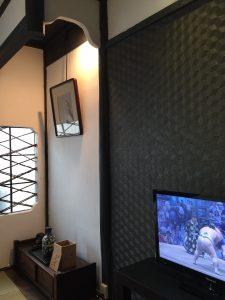Flat panel TV on 2 floor